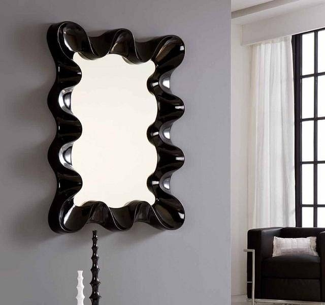 Unique Hanging Lamps Part 8 – Black Wall Mirror – Contemporary Pertaining To Contemporary Black Wall Mirrors (#15 of 15)