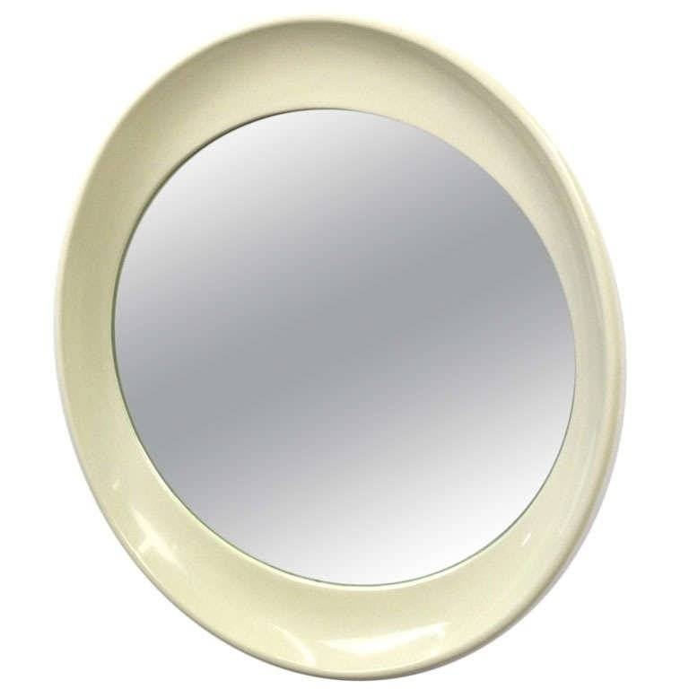Unique Space Age Plastic Oval Shaped Wall Mirror At 1Stdibs Intended For Plastic Wall Mirrors (#13 of 15)