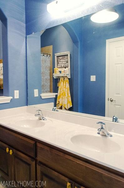 Upgrading A Bathroom Mirror With An Easy To Use Mirrormate Frame For Frame Bathroom Wall Mirrors (#15 of 15)