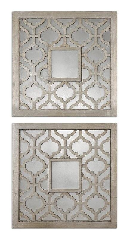 Inspiration about Uptal Square Silver Leaf Wall Mirror & Reviews | Allmodern In Silver Leaf Wall Mirrors (#15 of 15)