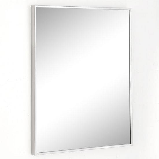 Urban Steel Rectangle Wall Mirror In Polished Or Brushed Stainless Inside Stainless Steel Wall Mirrors (View 2 of 15)