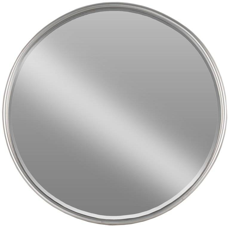 Inspiration about Urban Trends Metal Round Wall Mirror & Reviews | Wayfair Pertaining To Silver Round Wall Mirrors (#13 of 15)