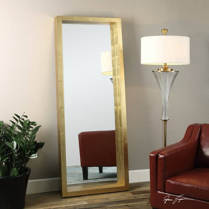 Uttermost Edmonton Full Length Wall Mirror & Reviews | Wayfair With Floor Length Wall Mirrors (#14 of 15)