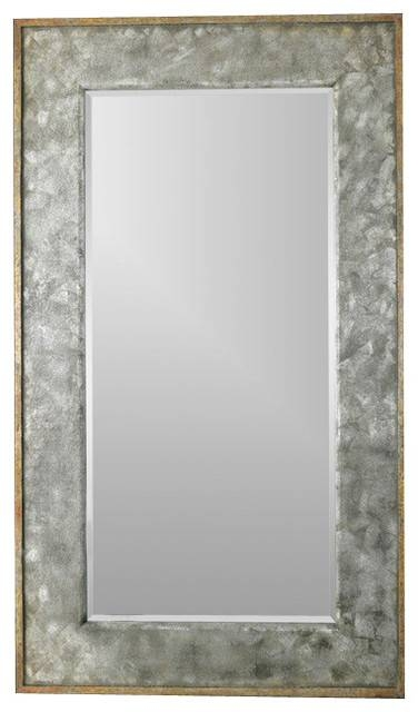 Uttermost Leron Mirror, Distressed Dark Bronze/silver For Uttermost Wall Mirrors (#7 of 15)