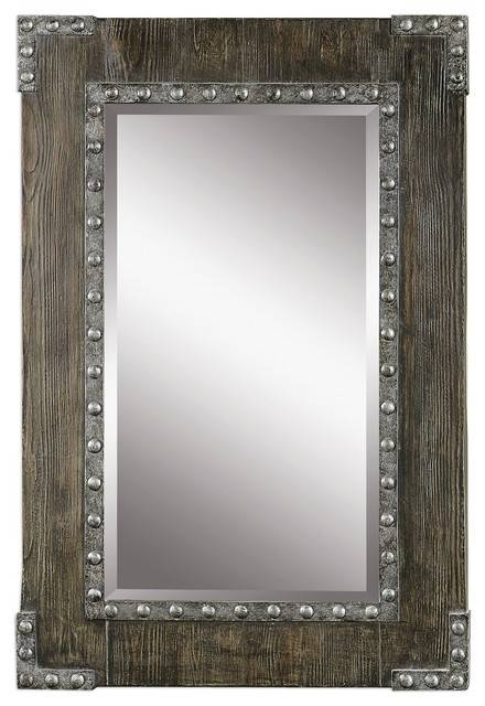 Inspiration about Uttermost Malton Rustic Wood Mirror – Industrial – Wall Mirrors Intended For Industrial Wall Mirrors (#7 of 15)
