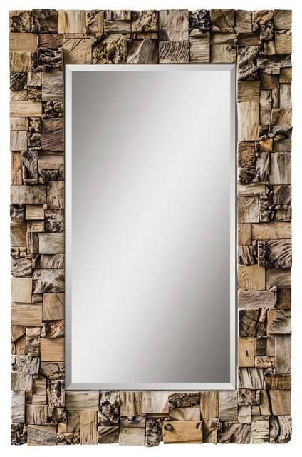 Uttermost Thatcher Teak Root Mirror – Rustic – Wall Mirrors – In Uttermost Wall Mirrors (View 3 of 15)