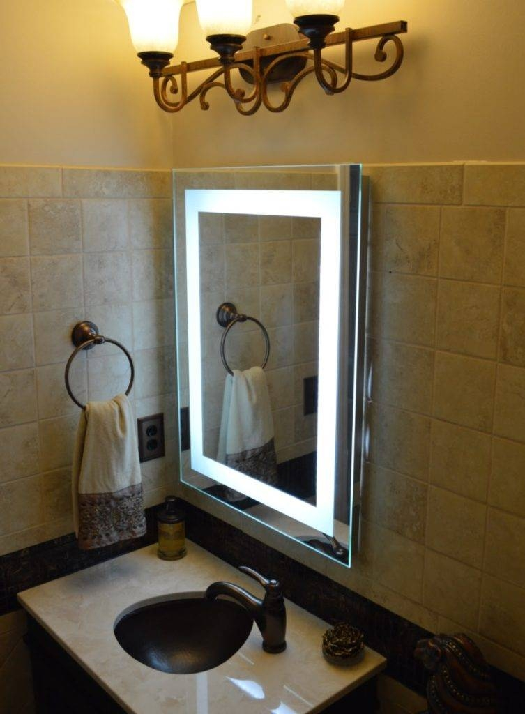 Vanity Makeup Mirror With Light Bulbs Small : Doherty House In Wall Mirrors With Light Bulbs (#15 of 15)