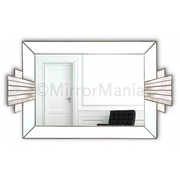 Vienna Majestic Original Handcrafted Art Deco Wall Mirror In White In Deco Wall Mirrors (#13 of 15)