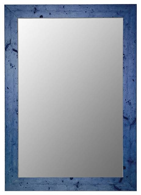 Inspiration about Vintage Blue Framed Wall Mirror – Transitional – Wall Mirrors – With Blue Framed Wall Mirrors (#1 of 15)