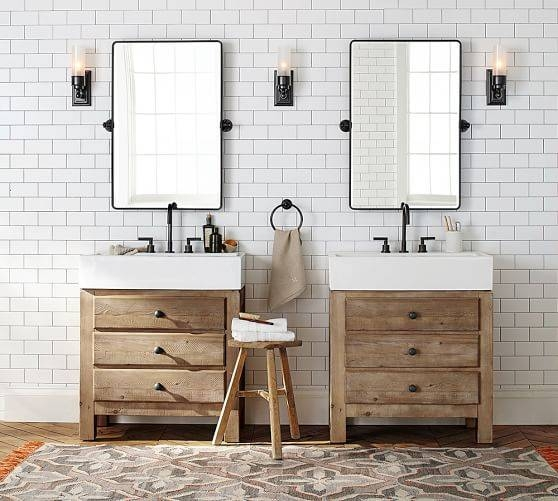 Inspiration about Vintage Pivot Mirror | Pottery Barn Within Pivot Mirrors For Bathroom (#2 of 15)
