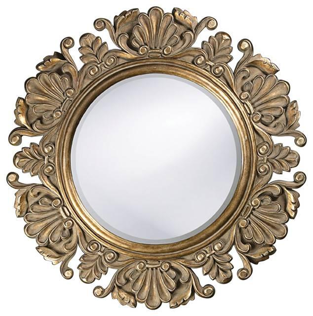 Vintage Style Round Framed Mirror – Victorian – Wall Mirrors In Vintage Style Wall Mirrors (#10 of 15)