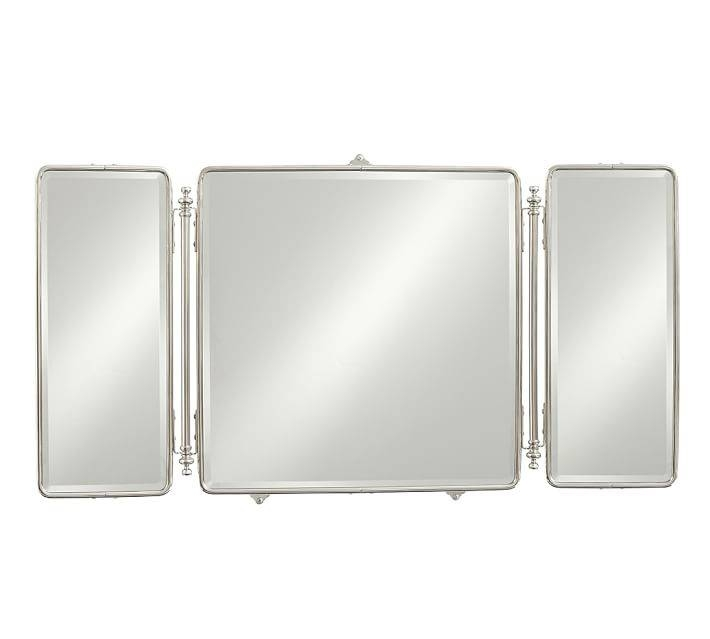 Vintage Tri Fold Mirror | Pottery Barn Throughout Tri Fold Wall Mirrors (#13 of 15)