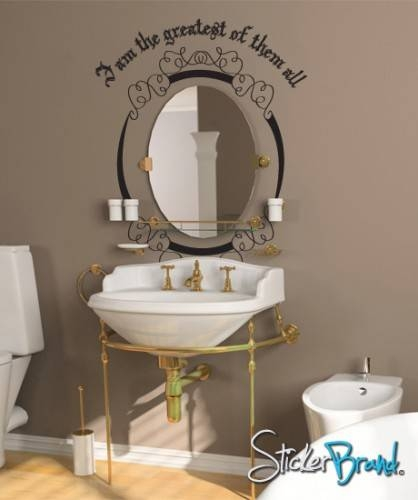 Inspiration about Vinyl Wall Decal Sticker Mirror Mirror On The Wall | Stickerbrand With Regard To Wall Mirror Decals (#14 of 15)