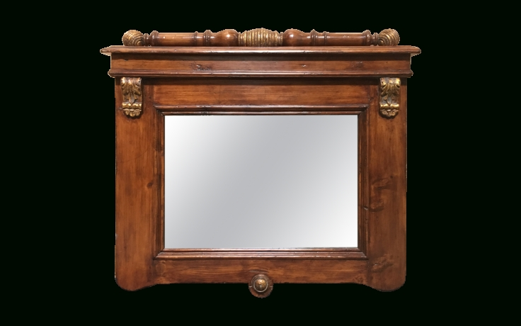Inspiration about Viyet – Designer Furniture – Accessories – Vintage Parcel Gilt With Regard To Pine Wall Mirrors (#12 of 15)