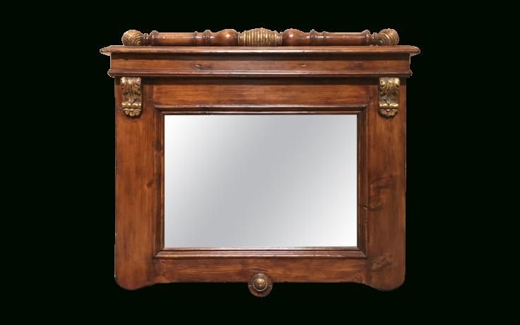 Viyet – Designer Furniture – Accessories – Vintage Parcel Gilt With Regard To Pine Wall Mirrors (#11 of 15)