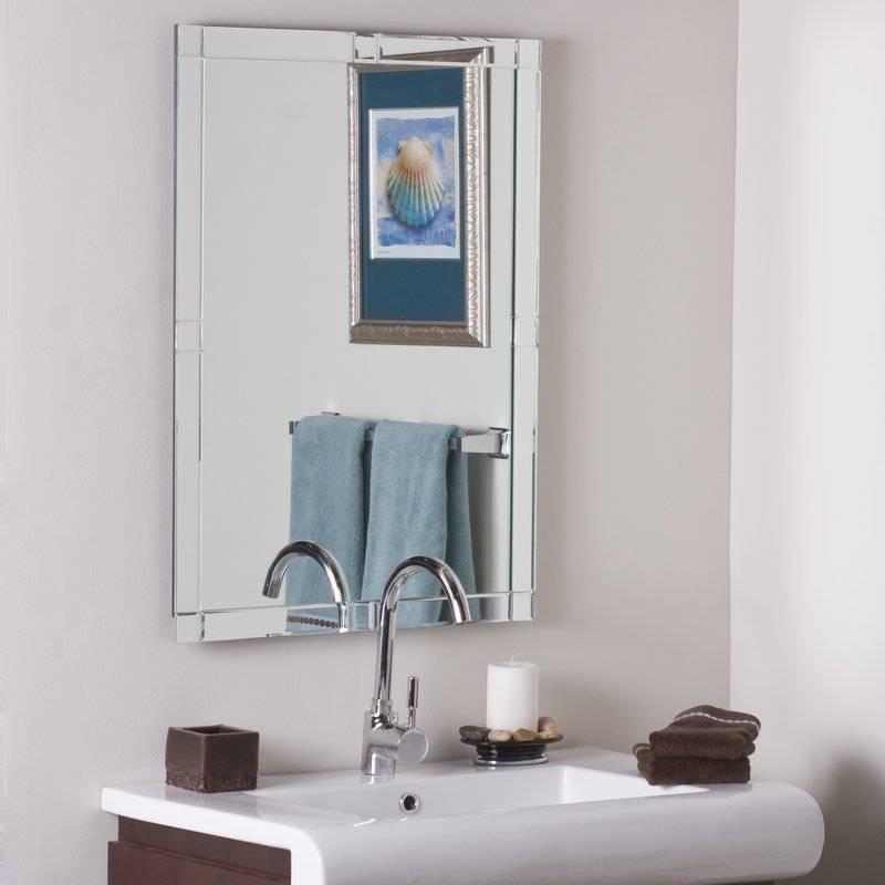 shop rectangular frameless decor com bathroom lowes in x wonderland mirrors at pl mirror