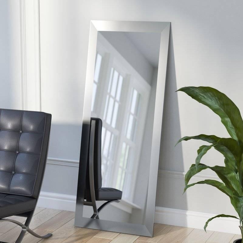 Wade Logan Industrial Full Length Wall Mirror & Reviews | Wayfair Regarding Full Length Wall Mirrors (#15 of 15)