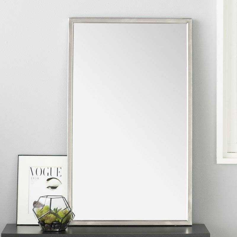 Wade Logan Petrolia Frame Wall Mirror & Reviews | Wayfair Inside White Frame Wall Mirrors (#13 of 15)