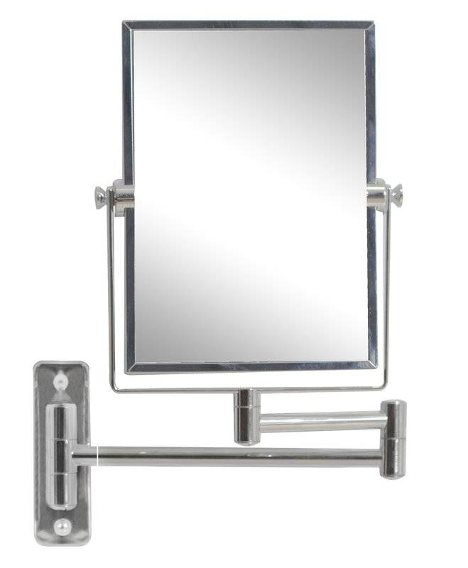 Wade Logan Rectangle Magnifying Wall Mirror & Reviews | Wayfair With Magnified Wall Mirrors (View 8 of 15)