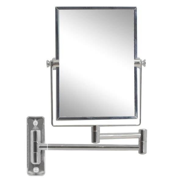 Wade Logan Rectangle Magnifying Wall Mirror & Reviews | Wayfair With Magnifying Wall Mirrors (#14 of 15)