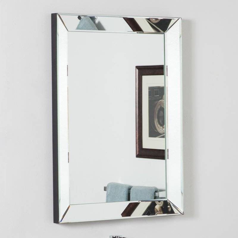Wade Logan Rectangle Silver Vanity Wall Mirror & Reviews | Wayfair Intended For Vanity Wall Mirrors (#14 of 15)