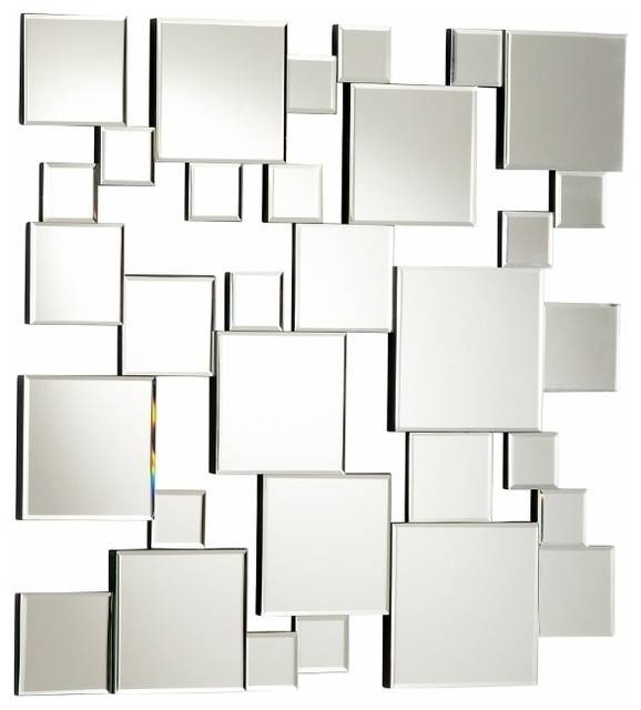 Wall Art Designs: Mirror Wall Art Modern Abstract Squares Wall With Regard To Abstract Wall Mirrors (View 3 of 15)
