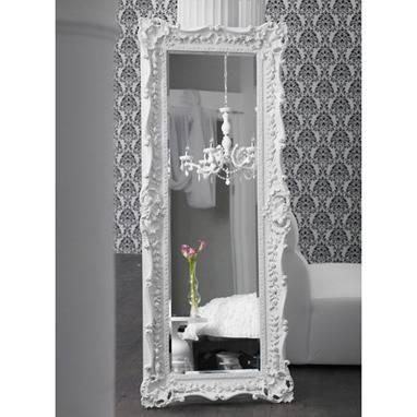 Wall Decor, Mirror, Mirrors, Ruffle Edge, Wood Frame, White Inside Damask Mirrors (#15 of 15)