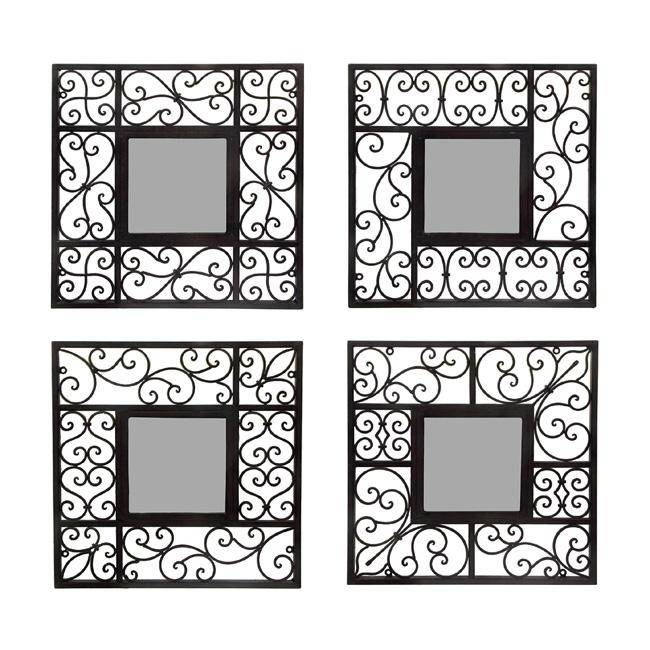 Wall Decor: Top 20 Wall Mirror Sets Decorative Mirror Grouping Throughout Wall Mirror Sets Of (View 7 of 15)