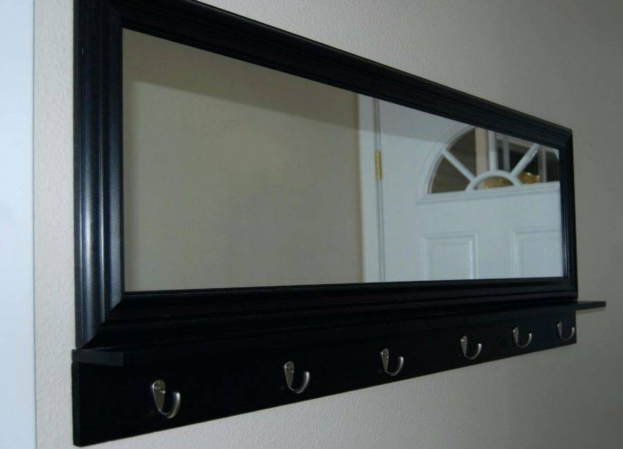 Wall Ideas : Wall Mirror With Hooks Pub Wall Mirror With Shelf And In Wall Mirrors With Hooks And Shelf (View 9 of 15)