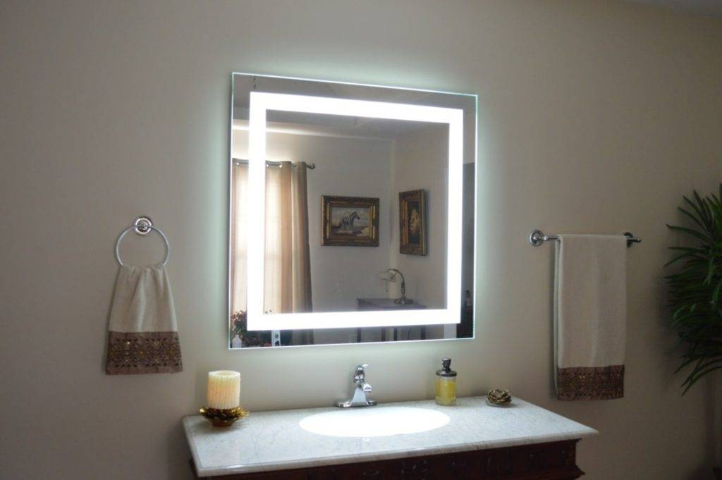 Wall Lights Design Modern Style Lighted Vanity Mirror For Mirrors Regarding Wall Mirrors With Light (#15 of 15)