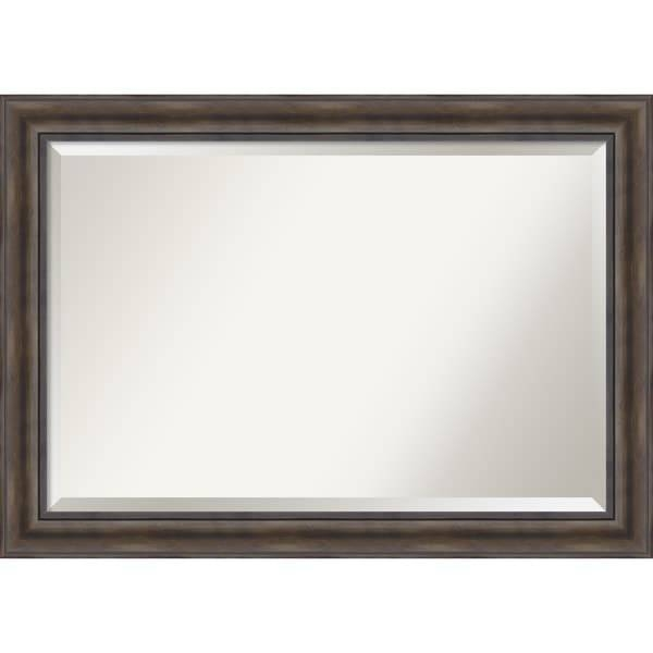 Wall Mirror Extra Large, Rustic Pine 42 X 30 Inch – Free Shipping Throughout Pine Wall Mirrors (#12 of 15)