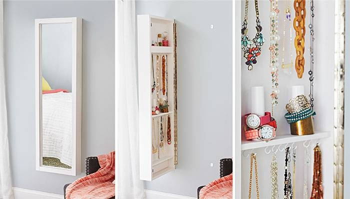 Wall Mirror With Hidden Storage With Wall Mirrors With Storages (#14 of 15)