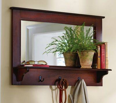 Popular Photo of Wall Mirrors With Hooks And Shelf