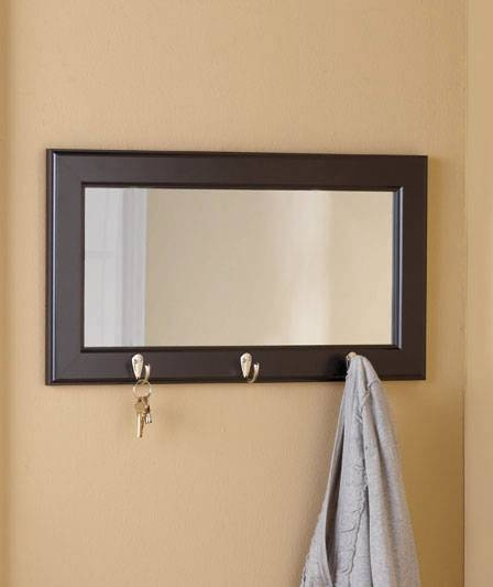 Wall Mirror With Hooks – Wall Shelves Intended For Wall Mirror Hooks (#14 of 15)