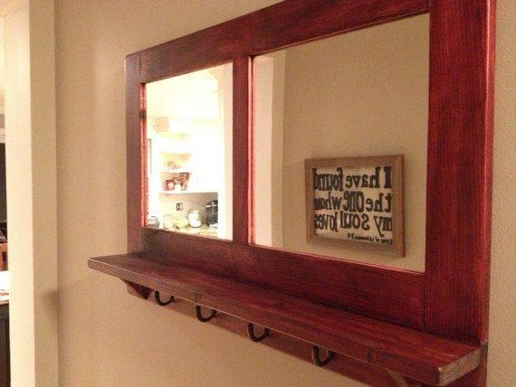 Wall Mirror With Hooks – Wall Shelves Regarding Wall Mirrors With Shelf And Hooks (#12 of 15)