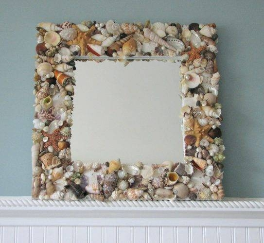 Wall Mirrors ~ All Images Flower Capiz Seashell Wall Mirror Inside Seashell Wall Mirrors (#13 of 15)