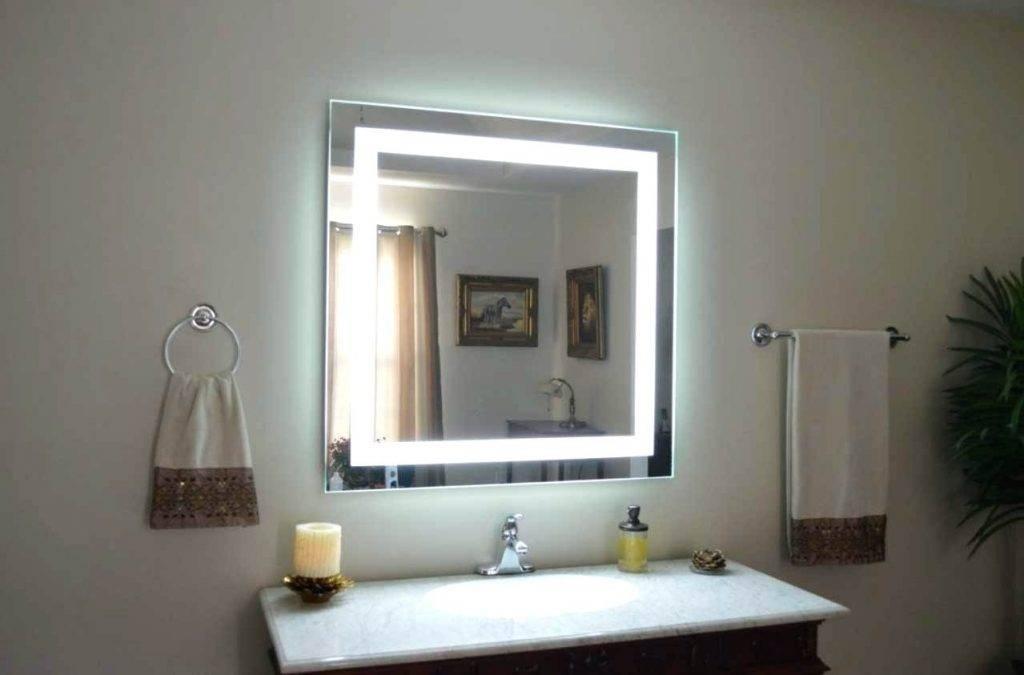Wall Mirrors ~ Backlit Bathroom Wall Mirrors Backlit Bathroom Wall Inside Backlit Bathroom Wall Mirrors (#15 of 15)