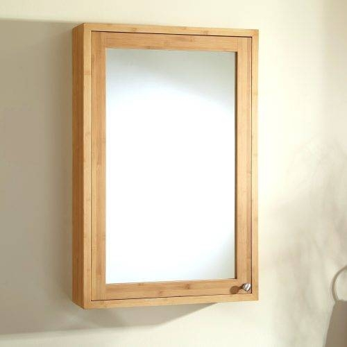 Wall Mirrors ~ Bamboo Crackle Wall Mirror Bamboo Mirror With Shelf Inside Bamboo Framed Wall Mirrors (#7 of 15)