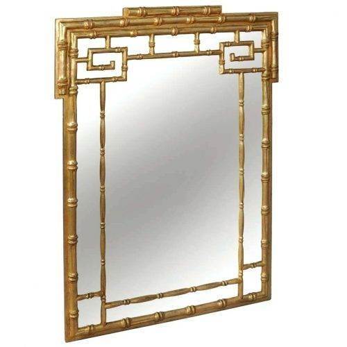 Wall Mirrors ~ Bamboo Crackle Wall Mirror Bamboo Mirror With Shelf Regarding Bamboo Framed Wall Mirrors (#8 of 15)