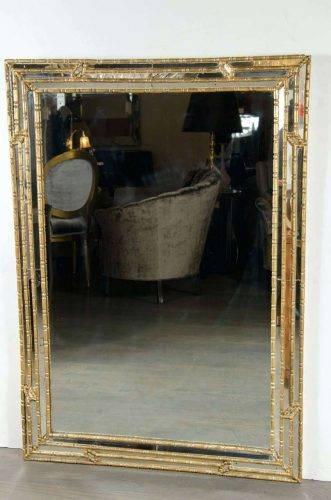 Wall Mirrors ~ Bamboo Framed Wall Mirrors Molly Mother Of Pearl Inside Bamboo Framed Wall Mirrors (#10 of 15)