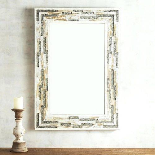 Wall Mirrors ~ Bamboo Framed Wall Mirrors Molly Mother Of Pearl Inside Bamboo Framed Wall Mirrors (#9 of 15)