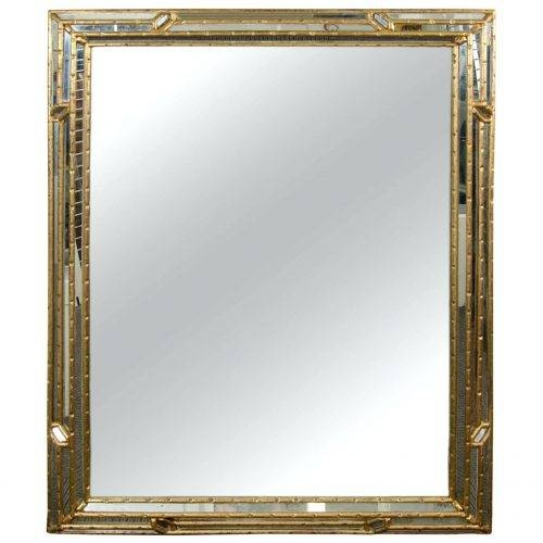 Wall Mirrors ~ Black Frame Full Length Wall Mirror Midcentury Pertaining To Bamboo Framed Wall Mirrors (#11 of 15)