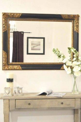 Wall Mirrors ~ Black Mirror With Shelf Bathroom Black Wall Mirrors With Regard To Cheap Black Wall Mirrors (View 8 of 15)