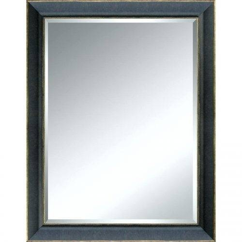 Wall Mirrors ~ Black Rectangle Wall Mirror Distressed Ivory Wall Intended For Black Rectangle Wall Mirrors (#15 of 15)