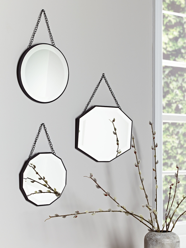 Wall Mirrors, Decorative Round Wall Hanging Modern & Vintage Inside Hanging Wall Mirrors (View 11 of 15)