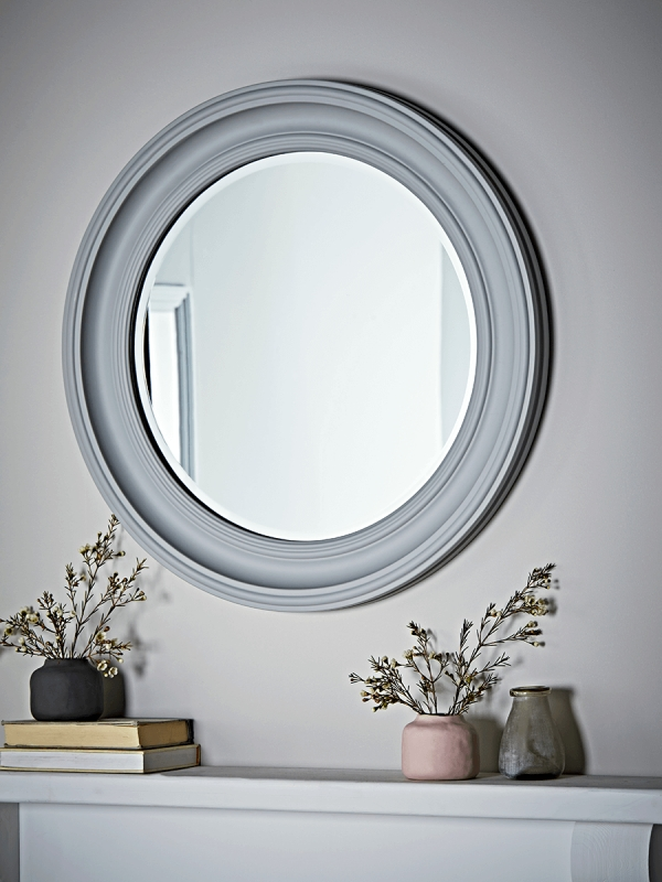 Wall Mirrors, Decorative Round Wall Hanging Modern & Vintage Intended For Gray Wall Mirrors (#15 of 15)