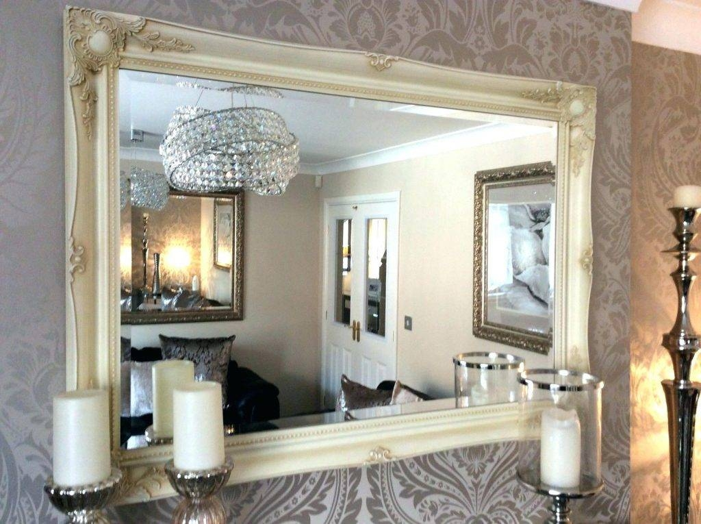 Wall Mirrors ~ Extra Large Decorative Cream Shabby Chic Wall In Extra Large Framed Wall Mirrors (#15 of 15)