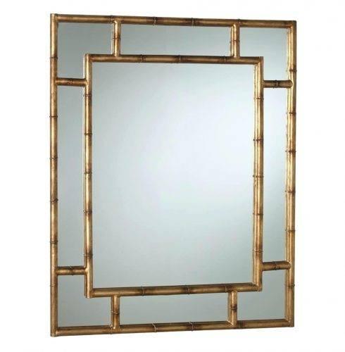 Wall Mirrors ~ Faux Bamboo Fretwork Italian Mirror 1 Large Bamboo Within Bamboo Framed Wall Mirrors (#13 of 15)