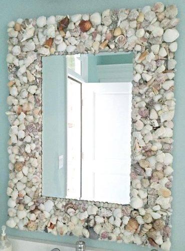 Wall Mirrors ~ Flower Capiz Seashell Wall Mirror Seashell Wall Inside Seashell Wall Mirrors (#14 of 15)