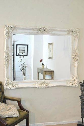 Wall Mirrors ~ Full Length Ivory Wall Mirror Antique Ivory Wall Inside Ivory Wall Mirrors (View 15 of 15)